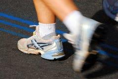 Ragazza di maratona Fotografia Stock
