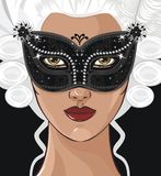 Ragazza di mistero royalty illustrazione gratis