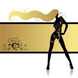 Ragazza di modo nel ballo royalty illustrazione gratis