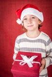 Ragazza di Natale Fotografie Stock