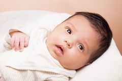 Ragazza di neonato bella Immagini Stock