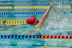 Ragazza di nuoto Immagini Stock
