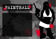 Ragazza di Paintball illustrazione vettoriale