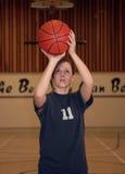 Ragazza di pallacanestro Fotografia Stock