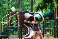 Ragazza di pallavolo Fotografia Stock