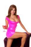 Ragazza di partito sexy del Martini Fotografia Stock Libera da Diritti