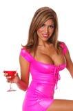 Ragazza di partito sexy del Martini Fotografia Stock