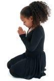 Ragazza di preghiera Fotografie Stock Libere da Diritti