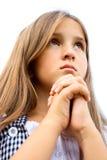 Ragazza di preghiera Fotografie Stock