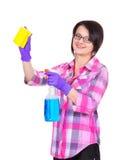 Ragazza di pulizia Fotografia Stock