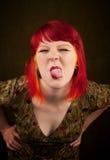 Ragazza di Punky con capelli rossi fotografia stock libera da diritti