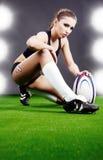 Ragazza di rugby Immagine Stock Libera da Diritti
