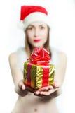 Ragazza di Santa Claus fotografia stock libera da diritti