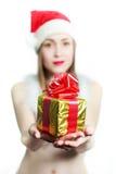 Ragazza di Santa Claus fotografie stock libere da diritti