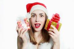 Ragazza di Santa Claus fotografia stock