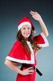 Ragazza di Santa della neve immagini stock