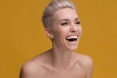 Ragazza di sorriso Fotografie Stock Libere da Diritti