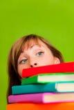 Ragazza di studio dei libri del libro Immagini Stock Libere da Diritti