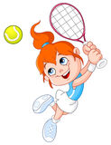Ragazza di tennis royalty illustrazione gratis