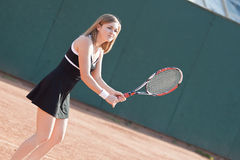 Ragazza di tennis. immagine stock libera da diritti