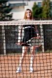 Ragazza di tennis. immagini stock