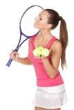 Ragazza di tennis fotografia stock