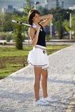 Ragazza di tennis immagine stock libera da diritti