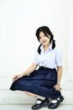 Ragazza di Thailand dello studente fotografia stock