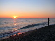Ragazza di tramonto Immagine Stock Libera da Diritti