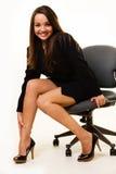 Ragazza di ufficio sexy Fotografie Stock