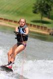 Ragazza di Wakeboarding Fotografia Stock