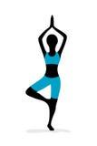 Ragazza di yoga Immagini Stock