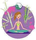 Ragazza di yoga royalty illustrazione gratis