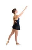Ragazza diritta del ballerino isolata Fotografie Stock Libere da Diritti