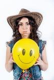 Ragazza divertente piacevole Fotografia Stock Libera da Diritti