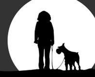 Ragazza e cane immagine stock libera da diritti