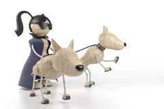 Ragazza e cani Fotografia Stock