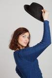 Ragazza e cappello fotografia stock libera da diritti