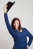 Ragazza e cappello fotografia stock