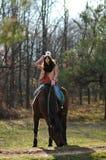 Ragazza e cavallo Fotografie Stock