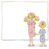 Ragazza e ragazzo. illustrazione vettoriale