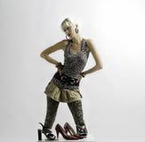 Ragazza e scarpe Fotografie Stock