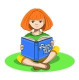 Ragazza e un libro Illustrazione Vettoriale