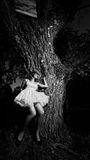 Ragazza ed albero fotografie stock libere da diritti