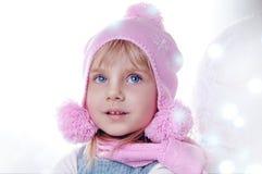 Ragazza ed inverno di magia Fotografie Stock Libere da Diritti