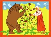 Ragazza ed orso Fotografia Stock