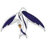 Ragazza ed uccello Immagini Stock