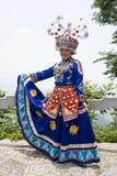 Ragazza etnica cinese in vestito tradizionale Fotografie Stock