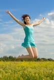 Ragazza felice Fotografia Stock