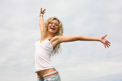 Ragazza felice Fotografia Stock Libera da Diritti
